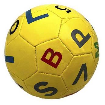 """Мяч футбольный """"Буквы"""" (жёлтый) DZ224"""
