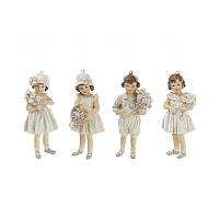 Елочное украшение подвеска-фигурка Детки с цветами 707-539