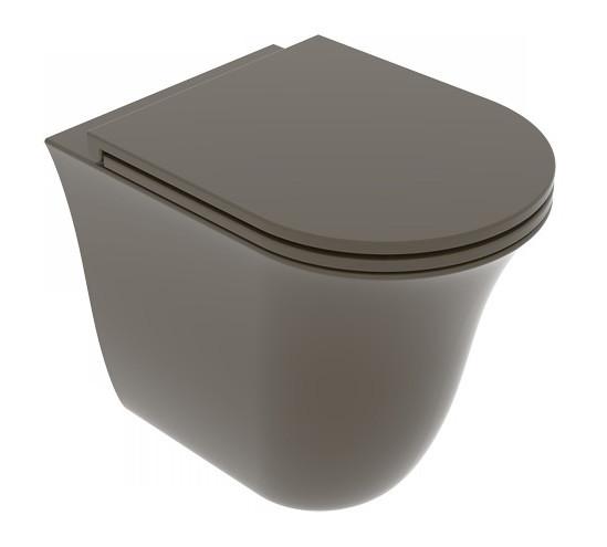 Унітаз підлоговий GSG Flut 52,5 см Smart Clean matt Coffe (FLWC01018)