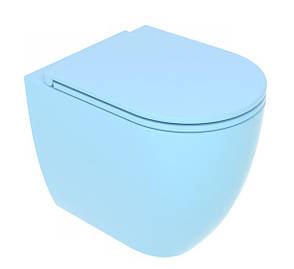 Унітаз підлоговий GSG LIKE 52,5 см Smart Clean matt Sky (LKWC01023), фото 2