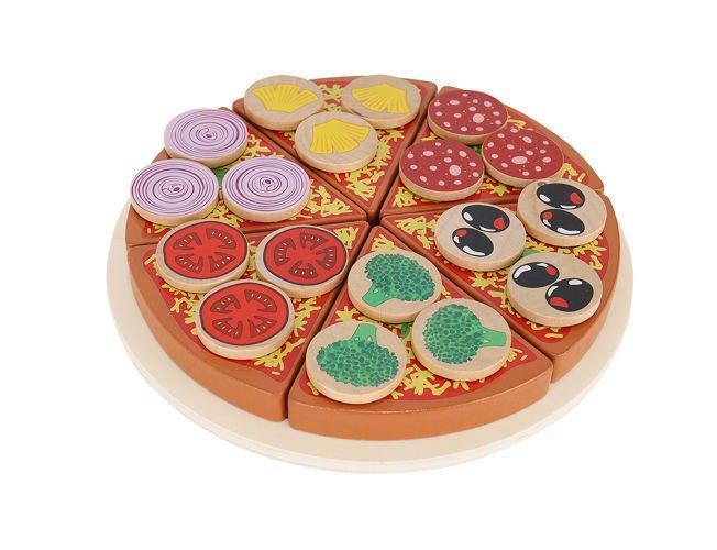 Детская игра, деревянная пицца с аксессуарамы Польша