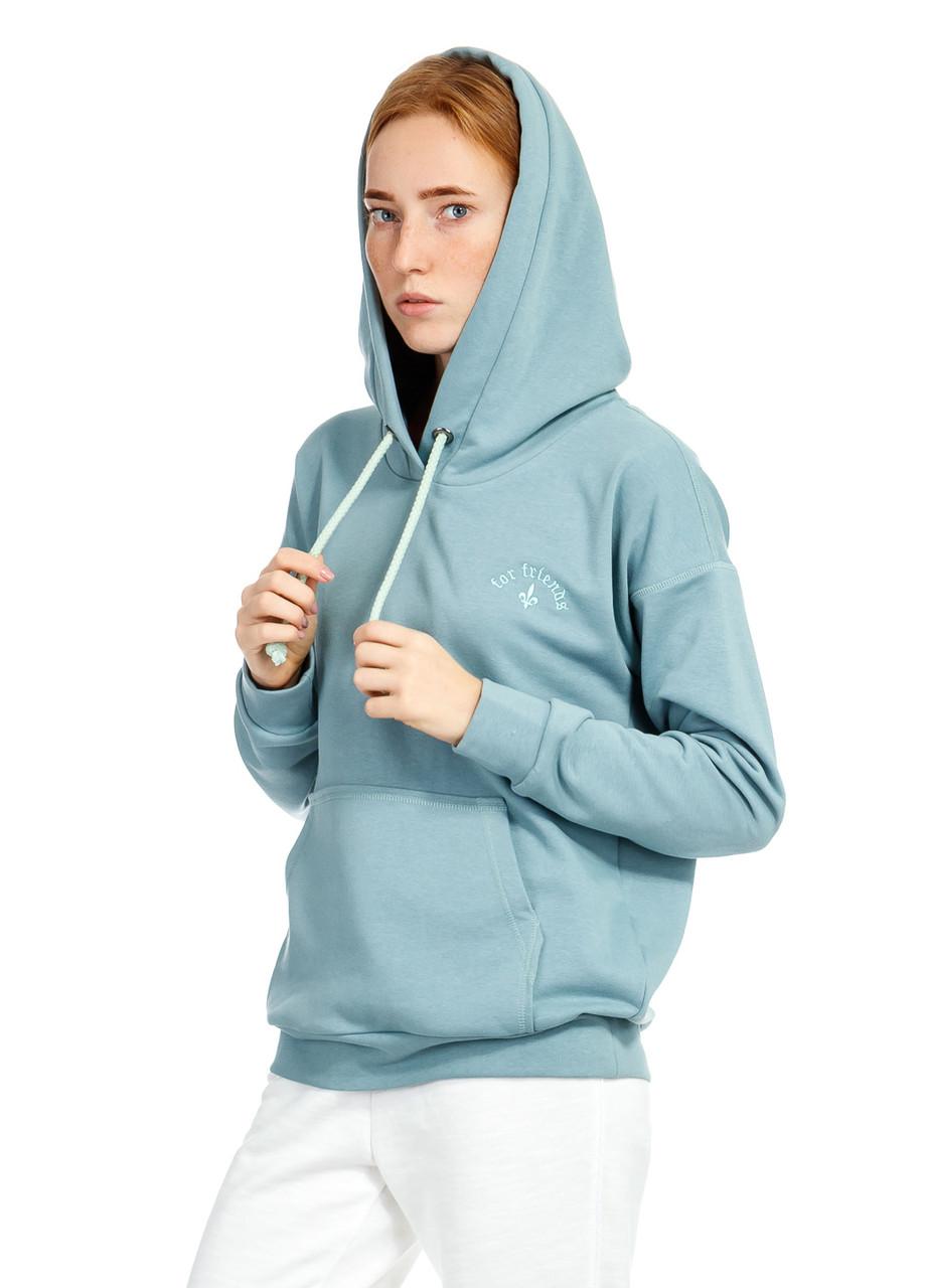 Худи женское Nine hoody серо-голубого цвета