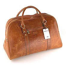 Сумка дорожная саквояж KARYA 52-61 кожаный светло-коричневый