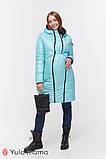 Зимнее двухстороннее пальто для беременных   Kristin OW-49.011 ( Размеры; S), фото 3