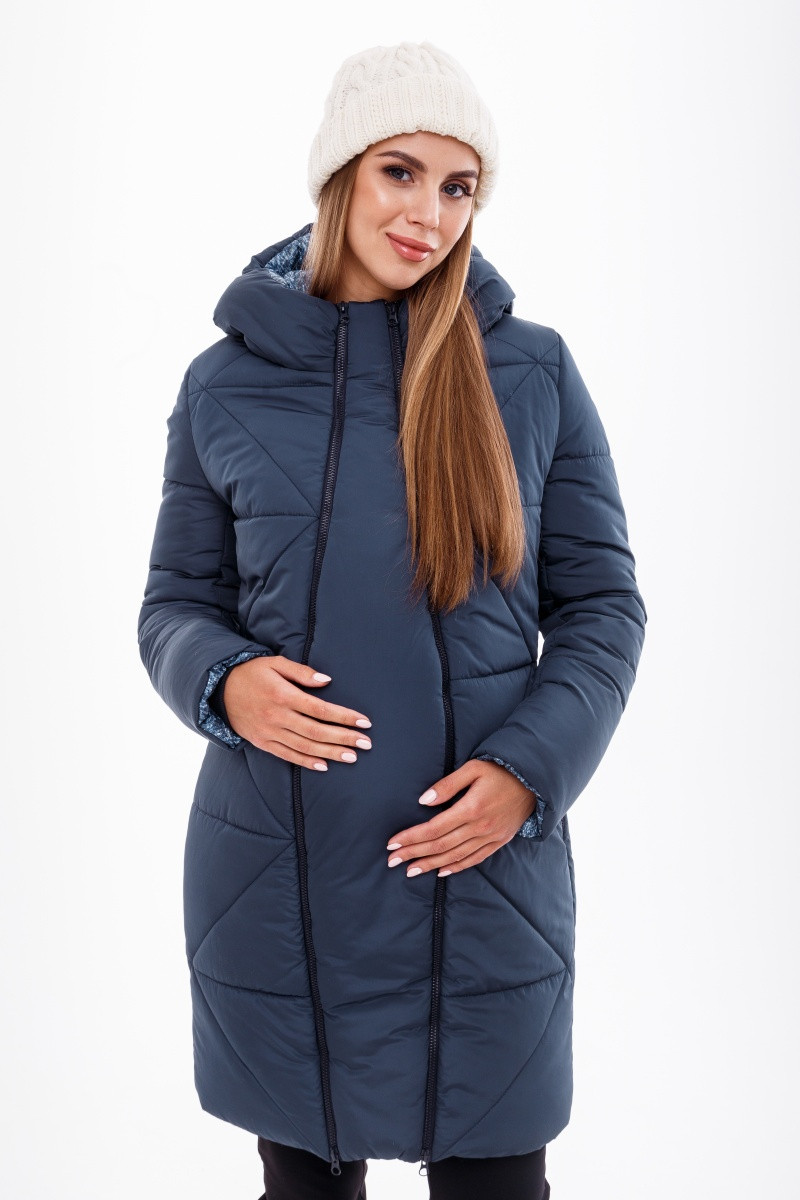 Зимнее теплое пальто для беременных Angie OW-49.033 (Размер S)