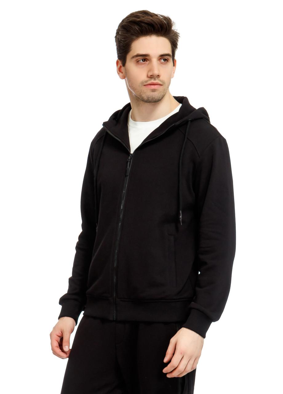Кофта мужская Manly черного цвета