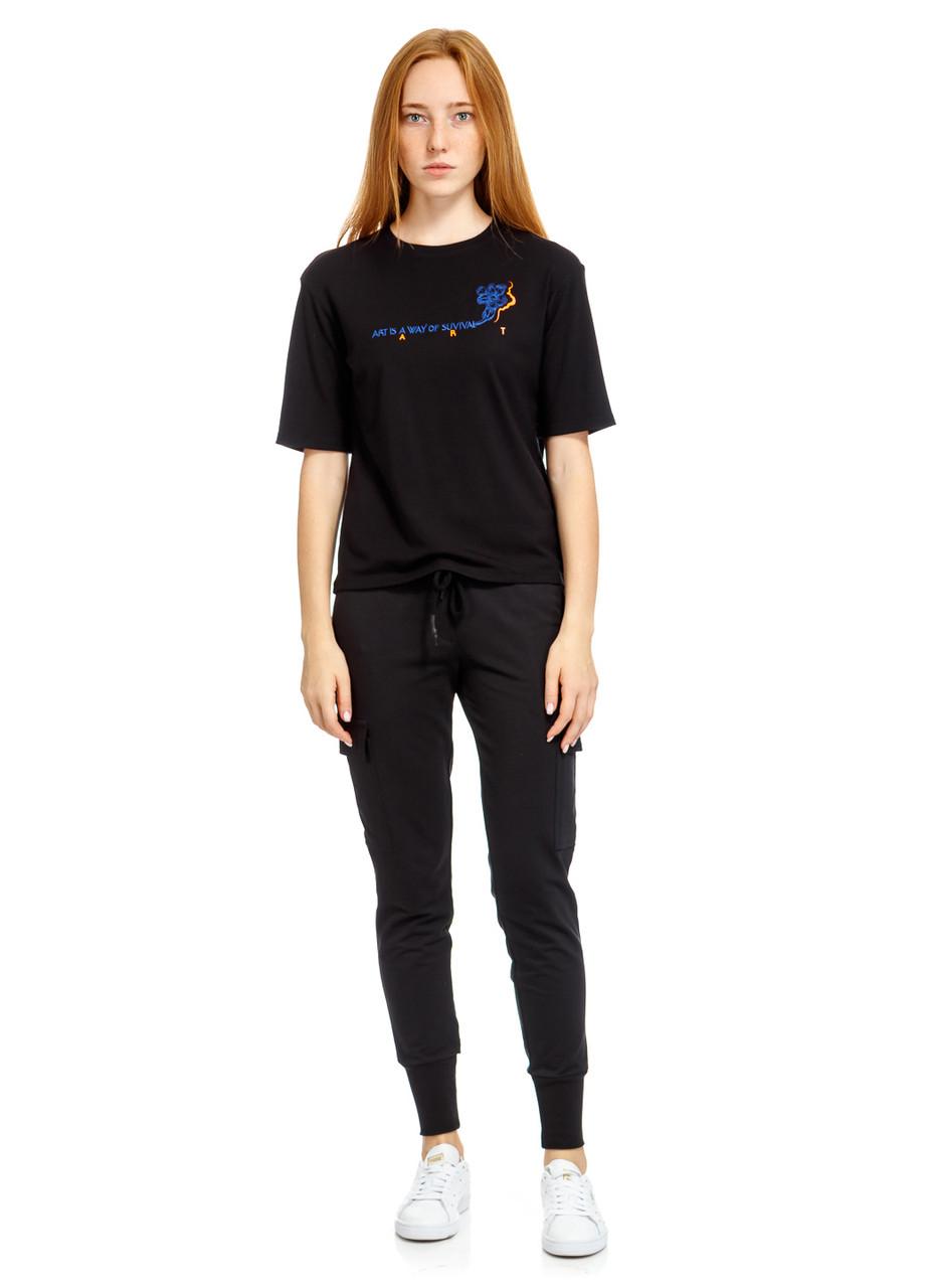 Футболка женская Art is t-shirt черного цвета