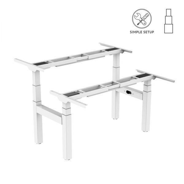 Подвійний стіл з електричним регулюванням висоти Loctek ET223H білий