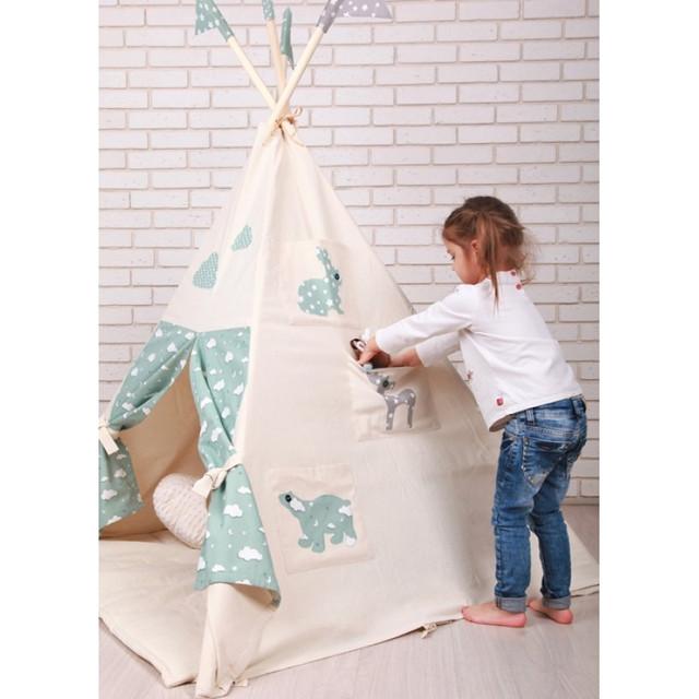 Декор детского вигвама-палатки
