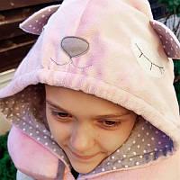Подушка-подголовник с капюшоном, Sunny Bunny Котик