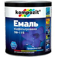 Эмаль Kompozit ПФ-115 серебристая 0.25 кг N50112194