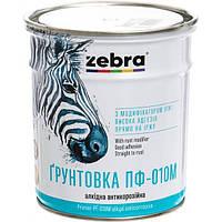 Грунт Зебра Акварель ПФ-010М 818 темно-серый 0.9 кг N50126594