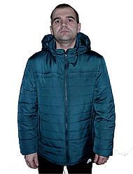 Стильная,демисезонная,мужская куртка,капюшон съемный, размеры 48-62, малахит(09)оловіча демісезонна куртка