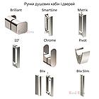Душевые двери раздвижные Ravak Blix BLDP3 Transparent трехэлементные, фото 6