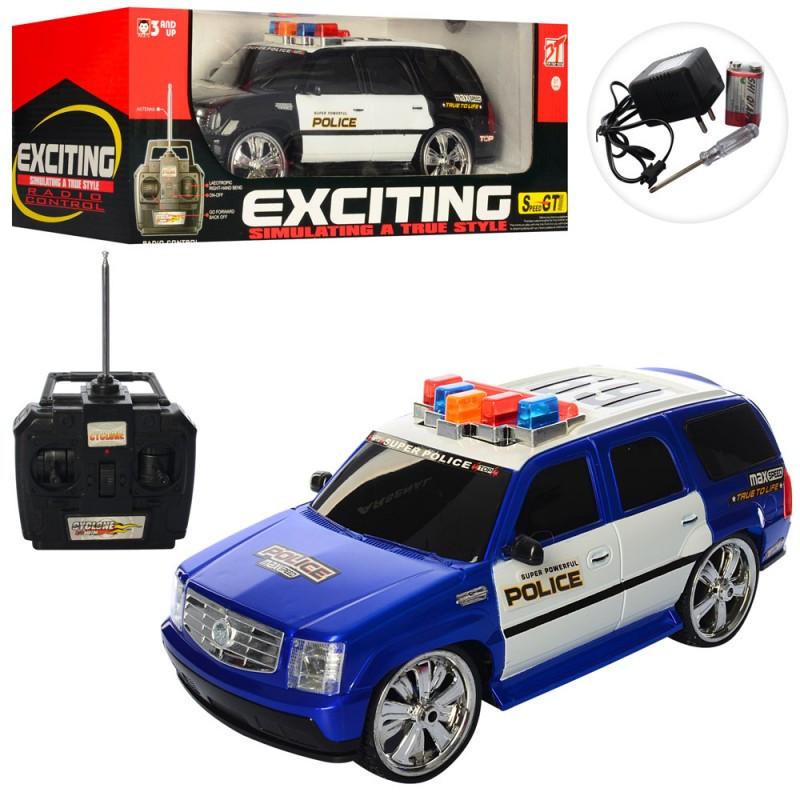 Машина поліція - позашляховик на радіокеруванні, акумулятор, світло, звуки, 6877C