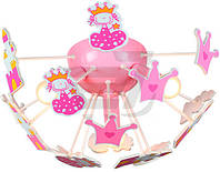 Люстра потолочная Brilliant Kooby 3x40 Вт E14 розовый HK12841S17 T31306608