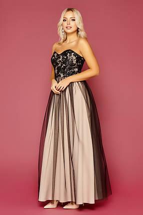 Красивое вечернее платье в пол  Размеры S, M, L, фото 2