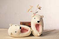 Тапочки Белые медведи, размер универсальный 32-34