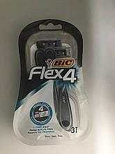 Набір одноразових станків для гоління Bic Flex 4 NanoTech 3шт в упакуванні