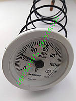 """Термометр для котла """"Pakkens"""", """"Arti"""" 0-120°C d=52mm с капиляром"""
