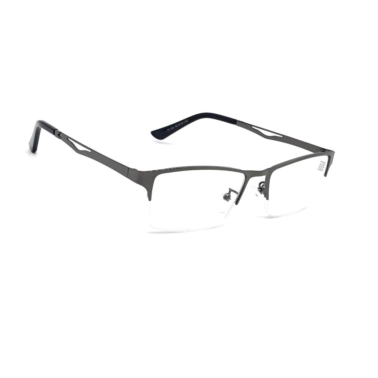 Универсальные полуоправные очки с белой линзой