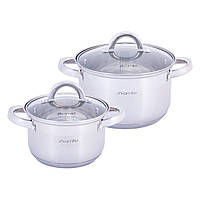 Набор кастрюль Kamille посуда  из нержавеющей стали 4 предметов для приготовления пищи