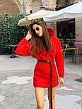Женское стильное худи на флисе с поясом (в расцветках), фото 5