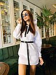 Женское стильное худи на флисе с поясом (в расцветках), фото 6