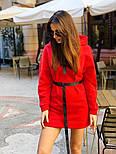 Женское стильное худи на флисе с поясом (в расцветках), фото 7