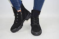 Ботинки женские зимние ILONA 294-030 чёрные замша, фото 1