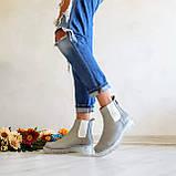 Серые зимние кожаные ботинки Челси Chelsea Ice женские, фото 5