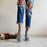 Серые зимние кожаные ботинки Челси Chelsea Ice женские, фото 6