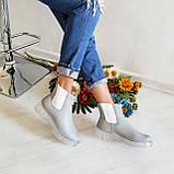 Серые зимние кожаные ботинки Челси Chelsea Ice женские, фото 3