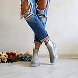 Серые зимние кожаные ботинки Челси Chelsea Ice женские, фото 8