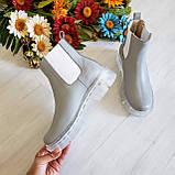 Серые зимние кожаные ботинки Челси Chelsea Ice женские, фото 7