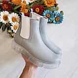Серые зимние кожаные ботинки Челси Chelsea Ice женские, фото 2