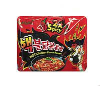 Локшина рамен швидкого приготування з куркою дуже гостра (Hot Chicken Flavor Ramen 2 x Spicy) Halal SamYang