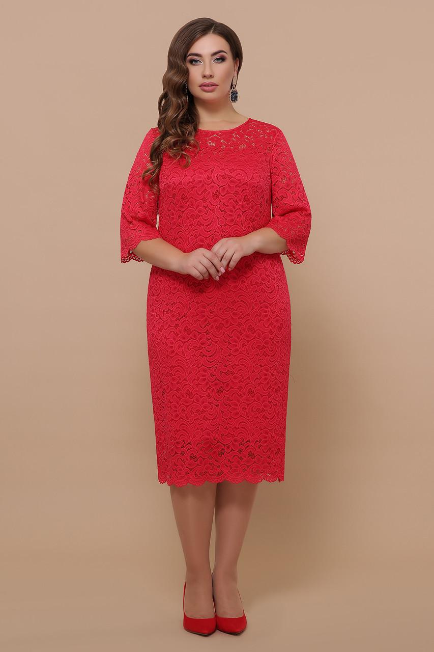 Женское гипюровое платье Большие размеры XL, XXL, XXXL