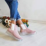 Женские зимние замшевые ботинки Chelsea Ice (пудра), фото 4