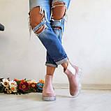 Женские зимние замшевые ботинки Chelsea Ice (пудра), фото 5