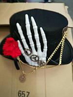 Шляпа на холлоуин фетр цилиндр