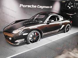 Машинка радиоуправляемая Porsche Cayman 1:16 с аккумулятором Черная
