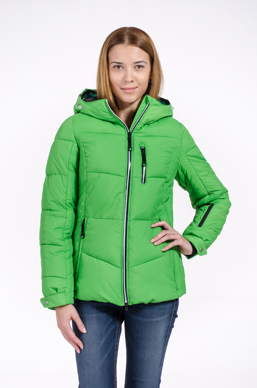 Зимняя куртка женская Avecs 7739714 зеленый