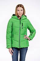Зимняя куртка женская распродажа Avecs зеленый 44 (S)