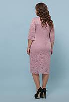 Розовое гипюровое платье Большие размеры XL, XXL, XXXL, фото 3