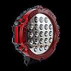 Фара LED круглая 63W (21 лампа) red, фото 3