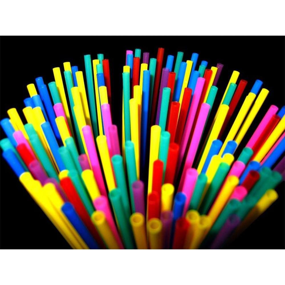 Разноцветные  трубочки 100 шт