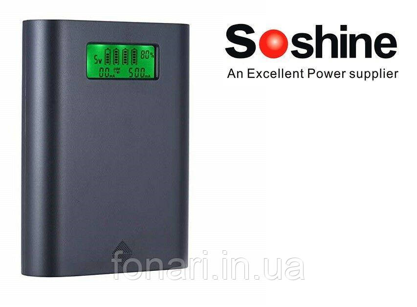 Power Bank Soshine E3S 4х18650, QC 3.0 Новинка
