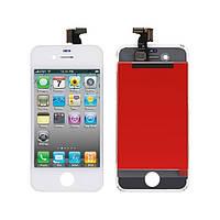 Дисплей Apple iPhone 4S з сенсорним екраном White (High Copy)