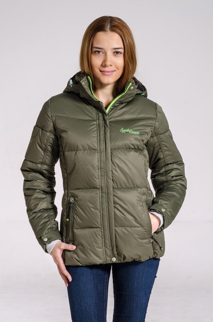 Зимняя куртка женская Avecs 7739620 хаки